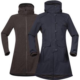 Bergans Bjerke 3in1 Coat Dame outer:dark navy/inner:cocoa mel